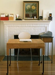 Fireplace work space