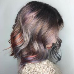 Do you like how pastel hair looks? Ombré Hair, Cool Hair Color, Oil Slick Hair Color, Subtle Hair Color, Fall Hair, Hair Today, Pretty Hairstyles, Latest Hairstyles, Hair Looks