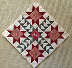 Antique Wedding Sampler block - Wheels on the Warrandyte bus Scrappy Quilt Patterns, Sampler Quilts, Applique Quilts, Quilt Blocks, Quilting Ideas, Red And White Quilts, Civil War Quilts, Flower Quilts, Doll Quilt