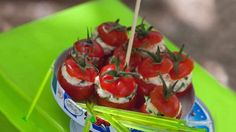 test Simple Comme Bonjour, Bruschetta, Buffet, Cherry, Food And Drink, Stuffed Peppers, Fruit, Vegetables, Ethnic Recipes