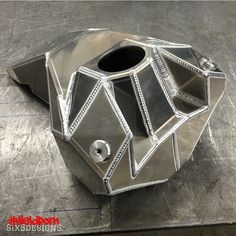"""How's this for some Monday motivation!!!! @six5design with a pretty crazy looking fuel cell! #weldporn"""