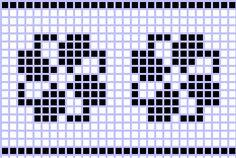 Free Crochet Pattern Charts at AllCrafts! Cross Stitch Bookmarks, Cross Stitch Borders, Cross Stitch Baby, Cross Stitch Designs, Cross Stitch Embroidery, Cross Stitch Patterns, Knitting Machine Patterns, Knitting Charts, Crochet Diagram