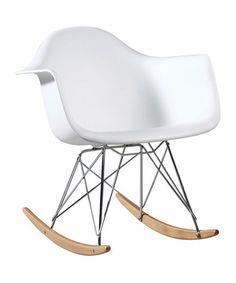 White Eames Arm Wire Rocking Chair Zulilyfinds
