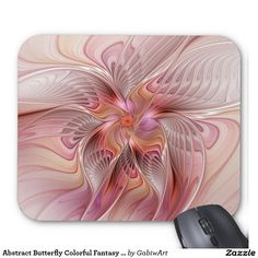 Abstract Butterfly Colorful Fantasy Fractal Art Mouse Pad