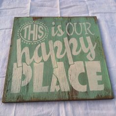 This is our HAPPY PLACE Hand painted WELCOME by TheCountryNook, $22.00