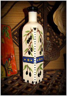 Olive Oil Bottle / Decantor  Dispensor by BajaGypsy on Etsy