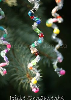 icicle ornaments cover photo Great webpage, lots of Christmas ideas