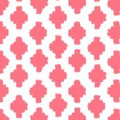 Beyond the Sea: Ikat Coral fabric by threeyellowplums for sale on Spoonflower - custom fabric, wallpaper and wall decals