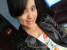 Pose Indah with her jacket