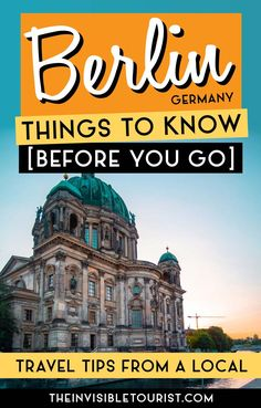 Handy Berlin Insider Tips Guide to Help You NOT Look Like a Tourist Planning a trip to Berlin? These 11 Berlin insider tips will help you blend in easily amongst locals. This handy local's guide will help you enjoy Berlin like a local, written by a local! Road Trip Europe, Europe Travel Guide, Travel Guides, Travel Destinations, Germany Destinations, European Vacation, European Destination, European Travel, Vacation Style