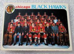 1978-79 CHICAGO BLACKHAWKS TEAM (PHOTO) CHECKLIST CARD! HALL OF FAMERS N/M. #ChicagoBlackhawks