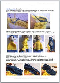 Pat a Mat | Návody na háčkované hračky Crochet Doll Pattern, Crochet Toys, Crochet Baby, Crochet Patterns, Diy Crafts, Tutorials, Sewing, Crochet Dolls, Bangles