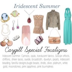 """""""Caygill Special Focalizers: Iridescent Summer"""" by expressingyourtruth on Polyvore"""