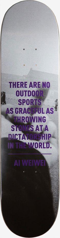 Ai Weiwei skateboard decks: 'As Graceful as Throwing Stones at a Dictatorship'
