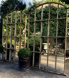 Architectural Mirror, Slow Arch Rustic Window Mirror architectural-reclaimed-mirror : Aldgate Home Ltd Garden Mirrors, Garden Wall Art, Outdoor Mirrors Garden, Mirrors In Gardens, Rustic Gardens, Outdoor Gardens, Outdoor Walls, Outdoor Living, Window Mirror