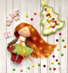 Яркая рыжая девчонка 20 см #кукла #куколка#рыжик #интерьернаякукла #doll Red Dolls, Christmas Ornaments, Holiday Decor, Christmas Jewelry, Christmas Decorations, Christmas Decor