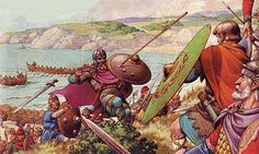 After a series a major battles, the Romano-British warriors were defeated by the Anglo-Saxon invaders, and driven west where they became known in the English language as 'Welsh' - which ironically means foreigner. In Wales they would maintain their Celtic language to this day. Meanwhile, in the area that came to be known as England, a Heptarchy of Anglo-Saxon kingdoms developed. Germanic languages replaced Latin and Celtic tongues as the lingua franca.