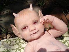 demon babies #dolls #clay  http://www.artdollstoday.com