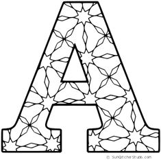 FREE printable alphabet COLORING letters A-Z with patterns for preschool, kids, and adults to color. Take a relaxing break by . Free Printable Alphabet Letters, Alphabet Templates, Alphabet Stencils, Templates Printable Free, Free Printable Coloring Pages, Free Coloring Pages, A Alphabet, Preschool Alphabet, Alphabet Crafts