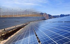 The Mojave Desert might be the next clean energy gold mine,they better get smart and make them flood proof, My guess is about 4 to 6 years. Solar Panel System, Solar Energy System, Solar Power, Landscaping Around Deck, Mojave Desert, Best Solar Panels, Solar Panel Installation, Landscaping Company, Landscaping Ideas