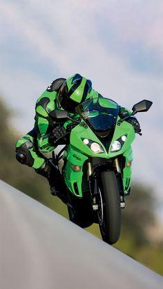 Kawasaki ninja - Green Machine Kawasaki motorcycle http://www.route3amotorsports.com/index.htm