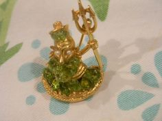 Poseiden or Neptune Vintage Brooch God of the Sea by dianadivine, $19.00