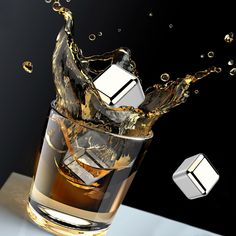 Kollea Stainless Steel Reusable Ice Cubes Chilling Stones for Whiskey Wine Beverage Pack of 4 >>> Want additional info? Click on the image. (This is an affiliate link) Scottish Drinks, Wine Chillers, Ice Stone, Good Whiskey, Wine Drinks, Beverage, Whiskey Cocktails, Whisky, Ice Cubes