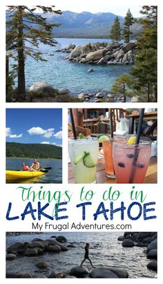 Fun family activities and restaurants to check out in Lake Tahoe!  Not just a ski destination, this is a beautiful vacation spot in summer as well!