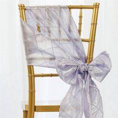 x Lavender Pintuck Chair Sash Wedding Chair Sashes, Bow Tie Wedding, Wedding Chairs, Purple Wedding, Spring Wedding, Wedding Flowers, Dream Wedding, Chair Bows, Diy Chair