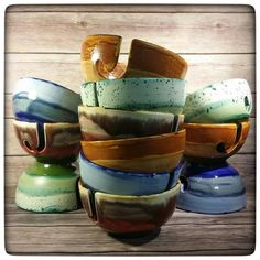 Oh pretty yarn bowls. Any of these that don't sell out before the middle of September will be coming with me to Orlando and the Florida Fiber In!