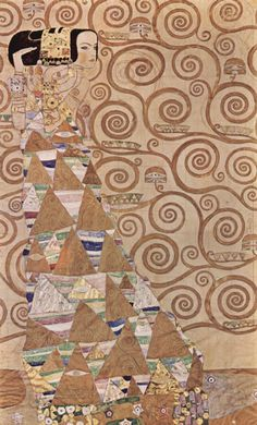 Gustav Klimt- Inspired by his combination of flat pattern and illusion of depth