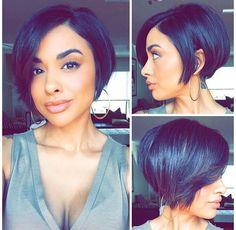 short bob hairstyles for women - Hair - Hair Designs Hair Styles 2016, Curly Hair Styles, Natural Hair Styles, Short Bob Haircuts, Hairstyles Haircuts, Black Hairstyles, Hairstyle Short, Trendy Haircuts, Straight Haircuts