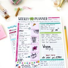 "Amazon.com : bloom daily planners NEW Weekly Planning System Tear Off To Do Pad - Bloom Daily Planner To Do Pad NEW 8.5"" x 11"" Size : bloom daily planners"