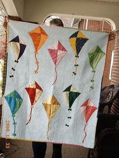 Kites... too cute.  I've always said if I am lucky enough to have a kid one day, I want to do the nursery in kites :)