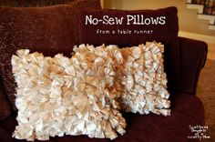 Scattered Thoughts of a Crafty Mom: How to Make a Simple No Sew Pillow