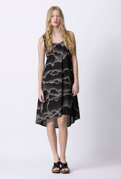 Milk From A Thistle: curtesy cotton dress - cloud cover print