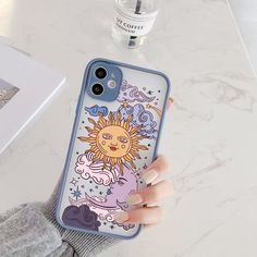 INSNIC Funny Sun Moon Face Shockproof iPhone Case - Style 2 / For iphone 8 Plus