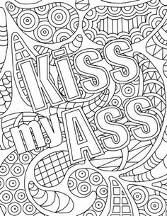 free adult coloring pages swear words - AOL Image Search Results