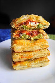 Avocado, cream cheese, and salsa pockets...sounds like heaven!!!