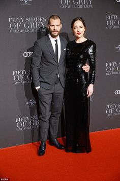 Dakota Johnson, 27, and Jamie Dornan, 34, looked every inch the show-stopping duo as they attended the Fifty Shades Darker screening in Berlin on Tuesday