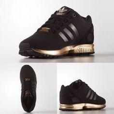 WOMENS ADIDAS ZX FLUX CORE BLACK COPPER ROSE GOLD BRONZE S78977 LIMITED EDITION #Adidas #RunningCrossTraining