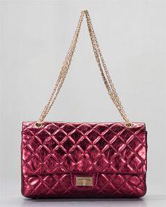 Chanel Reissue Dark Red Fuschia Metallic Flap Bag