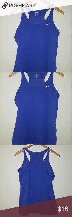 Nike dry fit tank Dark blue nike dry fit tank hardly used Nike Tops Tank Tops