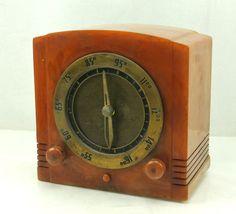 Kadette Clockette K 28 Vintage Bakelite Broadcast Receiver Tube Radio | eBay #weboys10