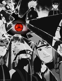 Masashi Kishimoto 2D painting, black, red, white Rin's in 3, Obito plz stop killing my heart
