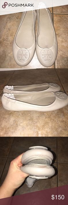 Tory Burch Minnie Reva Packable Ballet Flat Sz 11 No Trades, No Box, Freshly Cleaned, shows some wear on toes and bottom soles Tory Burch Shoes Flats & Loafers