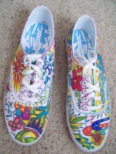 White Shoes And Sharpie