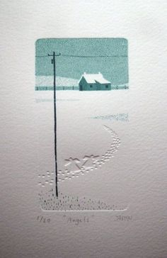 Like the simplicity of the illustration and combined with a little embossing, really helps bring the paper to life without it losing its quality. Might be useful to look into drawings like this. Gravure Illustration, Illustration Art, Linocut Prints, Art Prints, Collagraph, Grafik Design, Belle Photo, Letterpress, Printmaking
