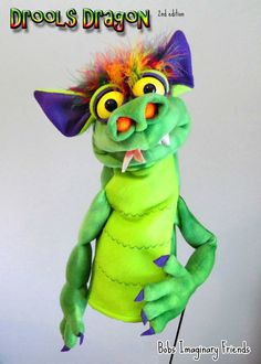 Drools Dragon 2nd Edition Hand Puppet or Ventriloquist Pupppet