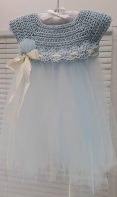 Crochet and Tulle Baby Dress - Free Pattern More